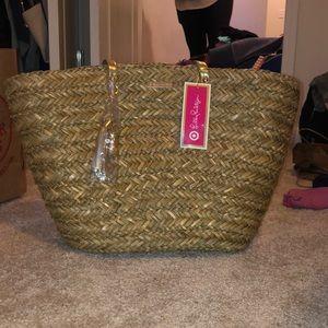 limited edition lily pulitzer NWT straw beach bag